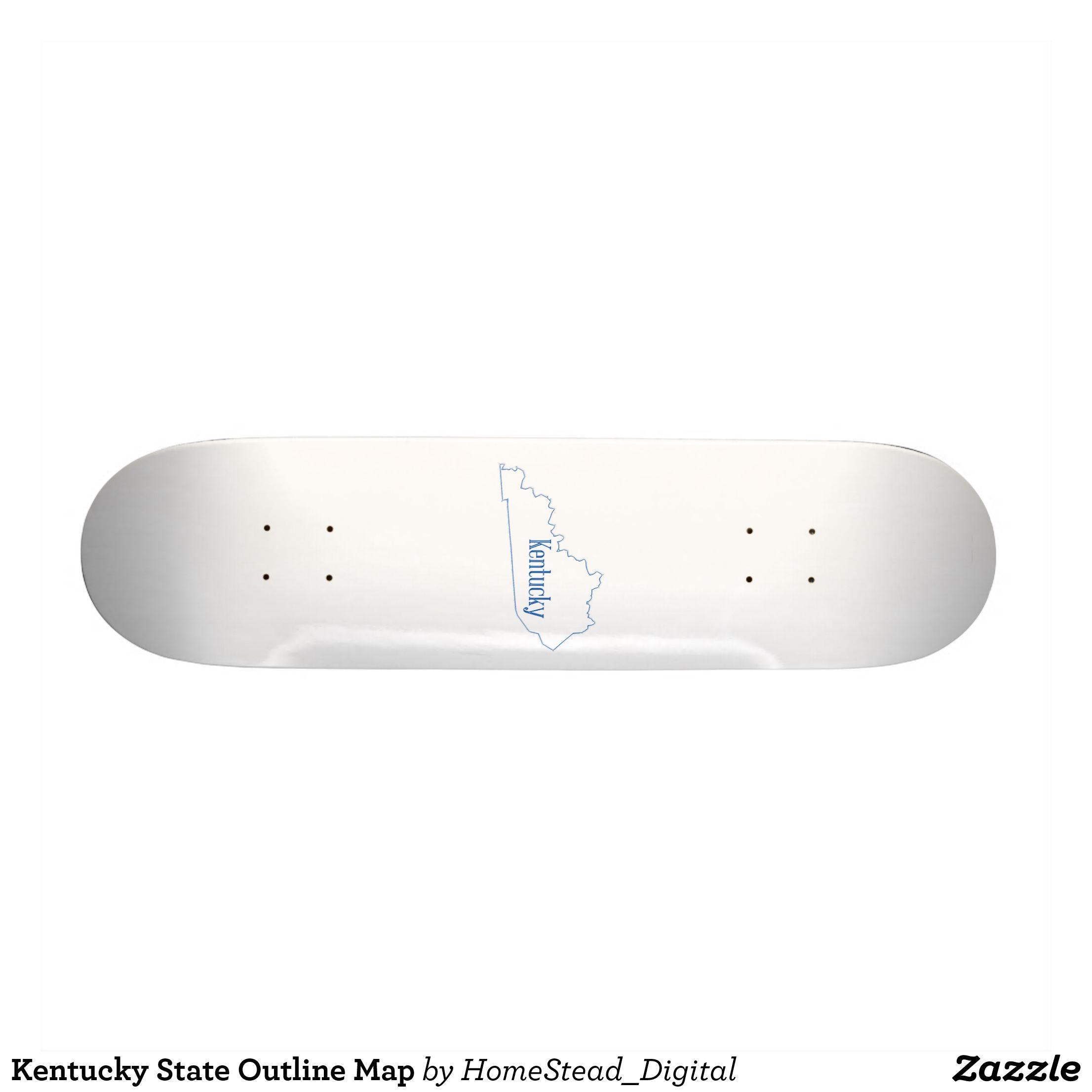 Kentucky State Outline Map Skateboard Zazzle Com