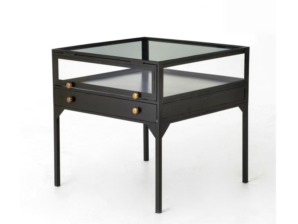 Shadow Box End Table Shadow Box Box And Black Metal - Shadow box sofa table