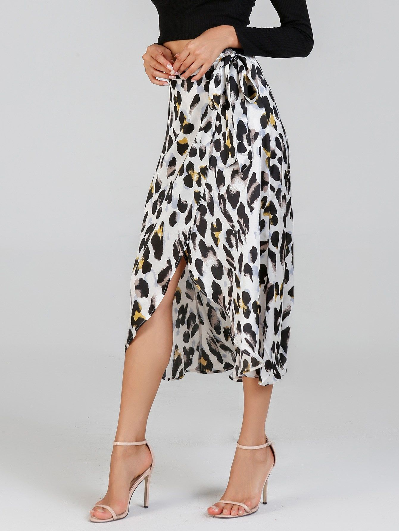 1c68f462d3 ShopStyle Collective | simple dress | Leopard print skirt, Casual ...