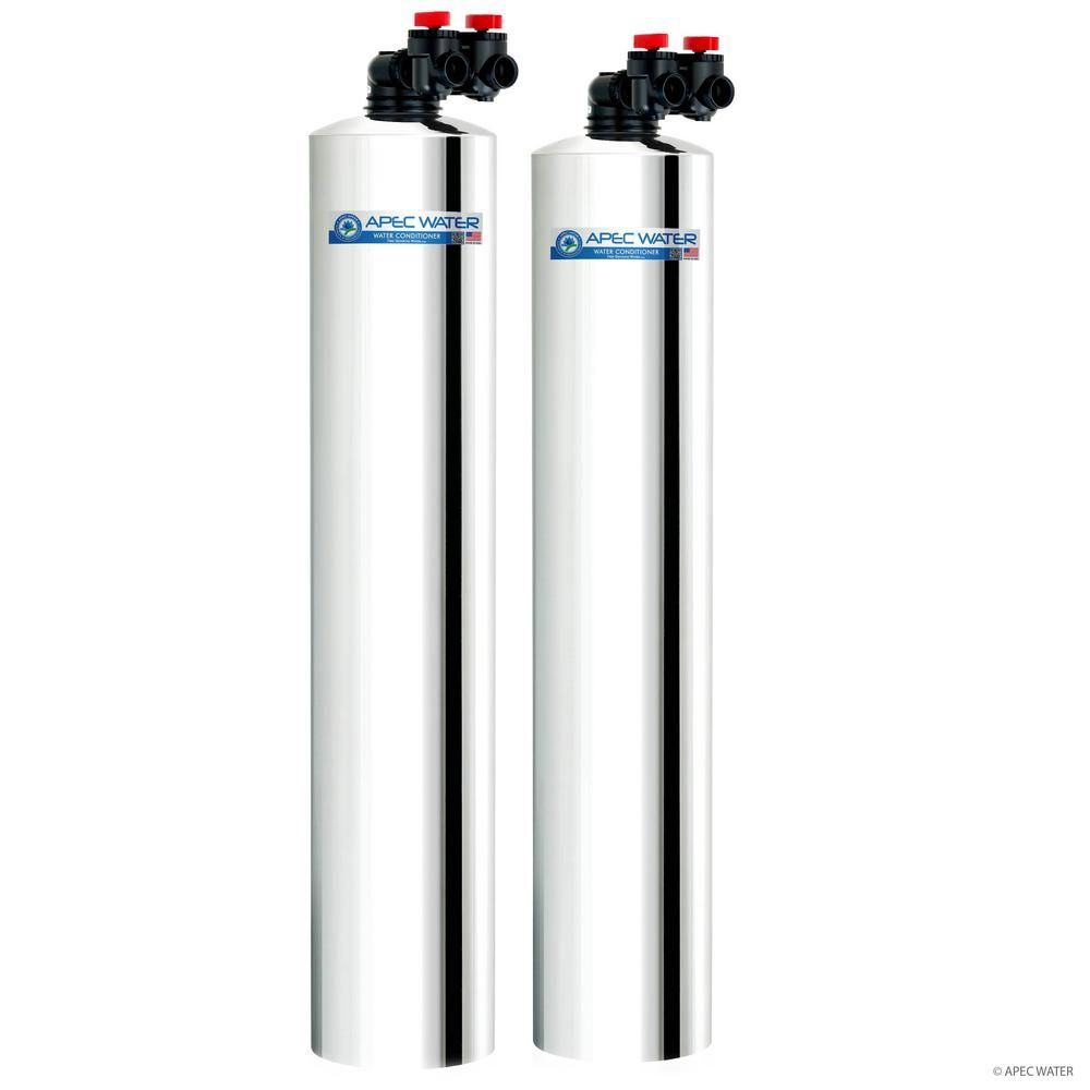Apec Water Systems Premium 10 Gpm Salt Free Water Softener And Whole House Water Filtration System Wh Solution 10 The Home Depot In 2020 Water Filtration System Water Purification System Water Filtration