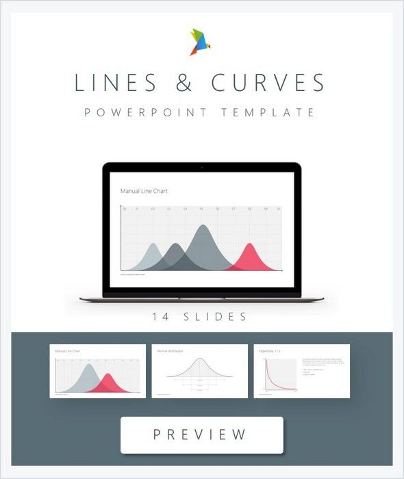 Lines and curves PowerPoint Template Presentation templates - it manual templates to download