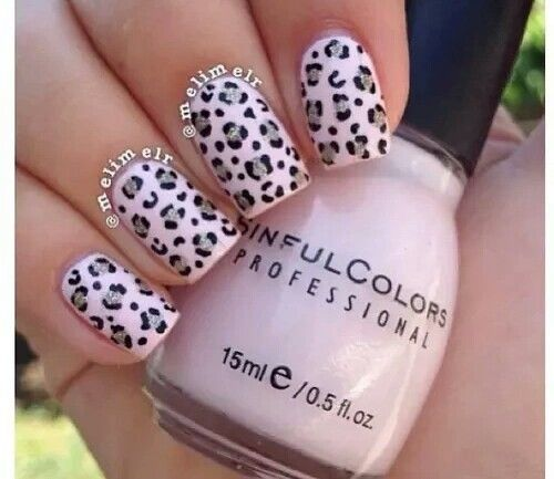 Light Pink Cheetah Print Nails Pink Leopard Nails Leopard Nails Pink Cheetah Nails