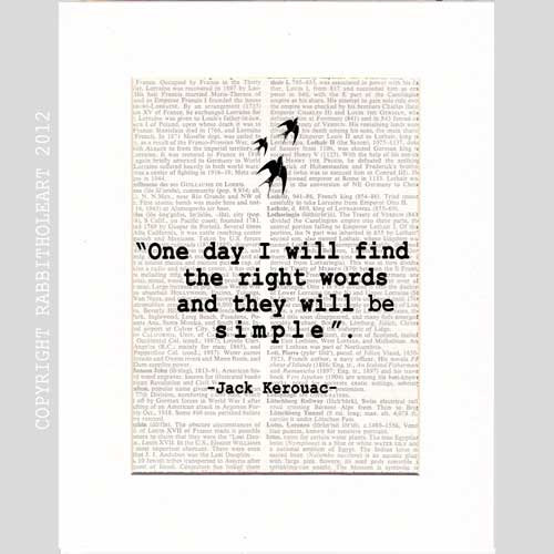 JACK KEROUAC QUOTE Art Print Wall Decor Poster motivational