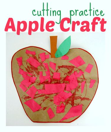 Great apple craft for groups of kids in preschool or daycare.