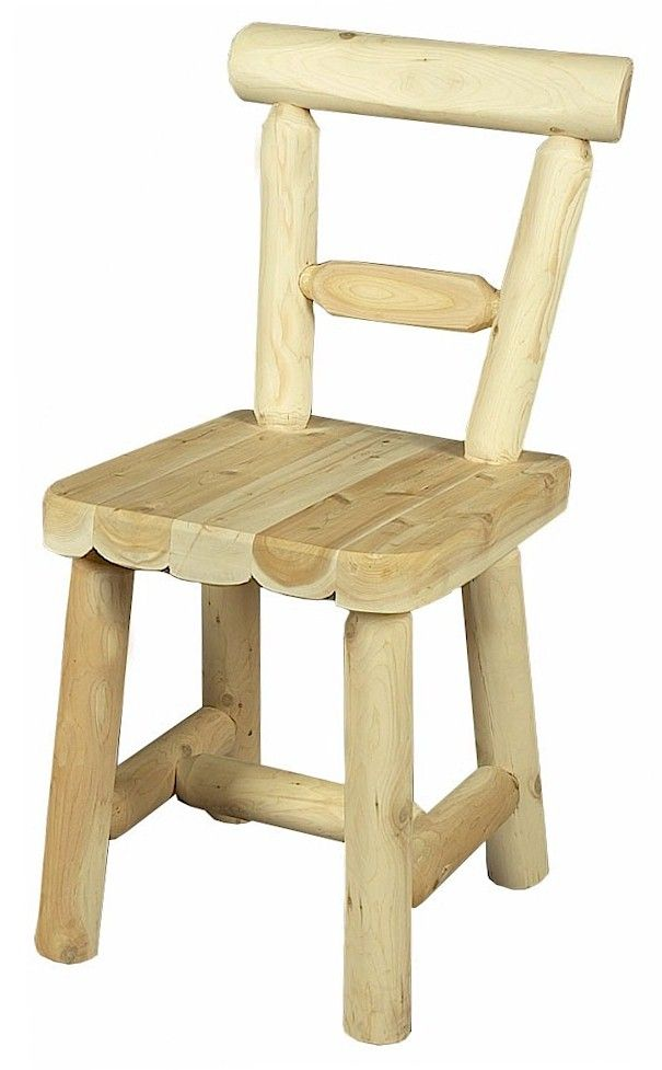 Rustic Cedar Solid Seat Dining Chairs Qty 2 Мебель из