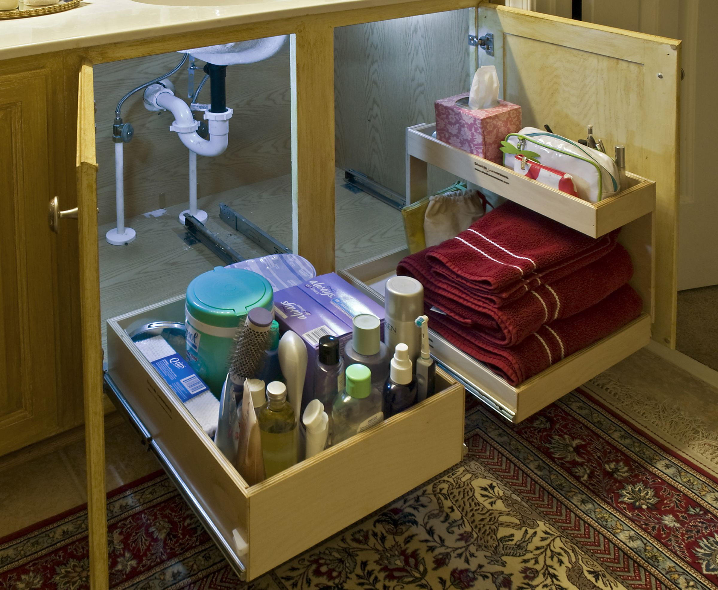 Kitchen Sink Storage Solutions Under Your Sinks with Slide