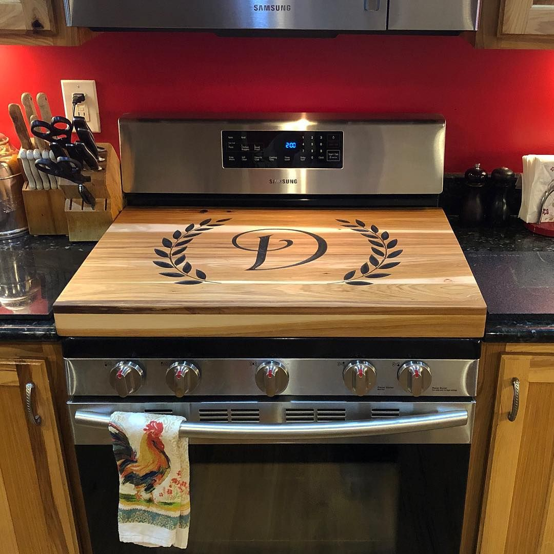 Here Is The Noodle Board In Its Home The Stove Is A Gas Stove So I Raised It Up And Boxed The Grates In Noodle Board Kitchen Wet Bar Wooden