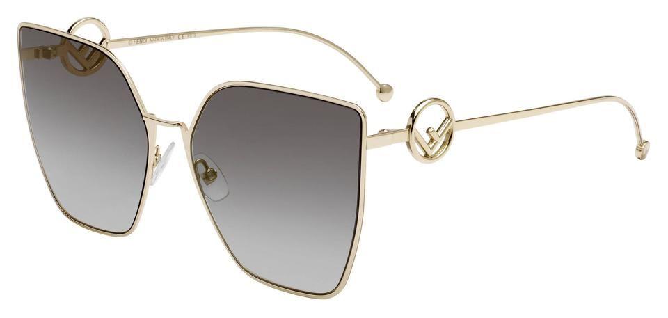 Fendi   Gray/gold Women's 0323/s 63MM Ft3 Sunglasses