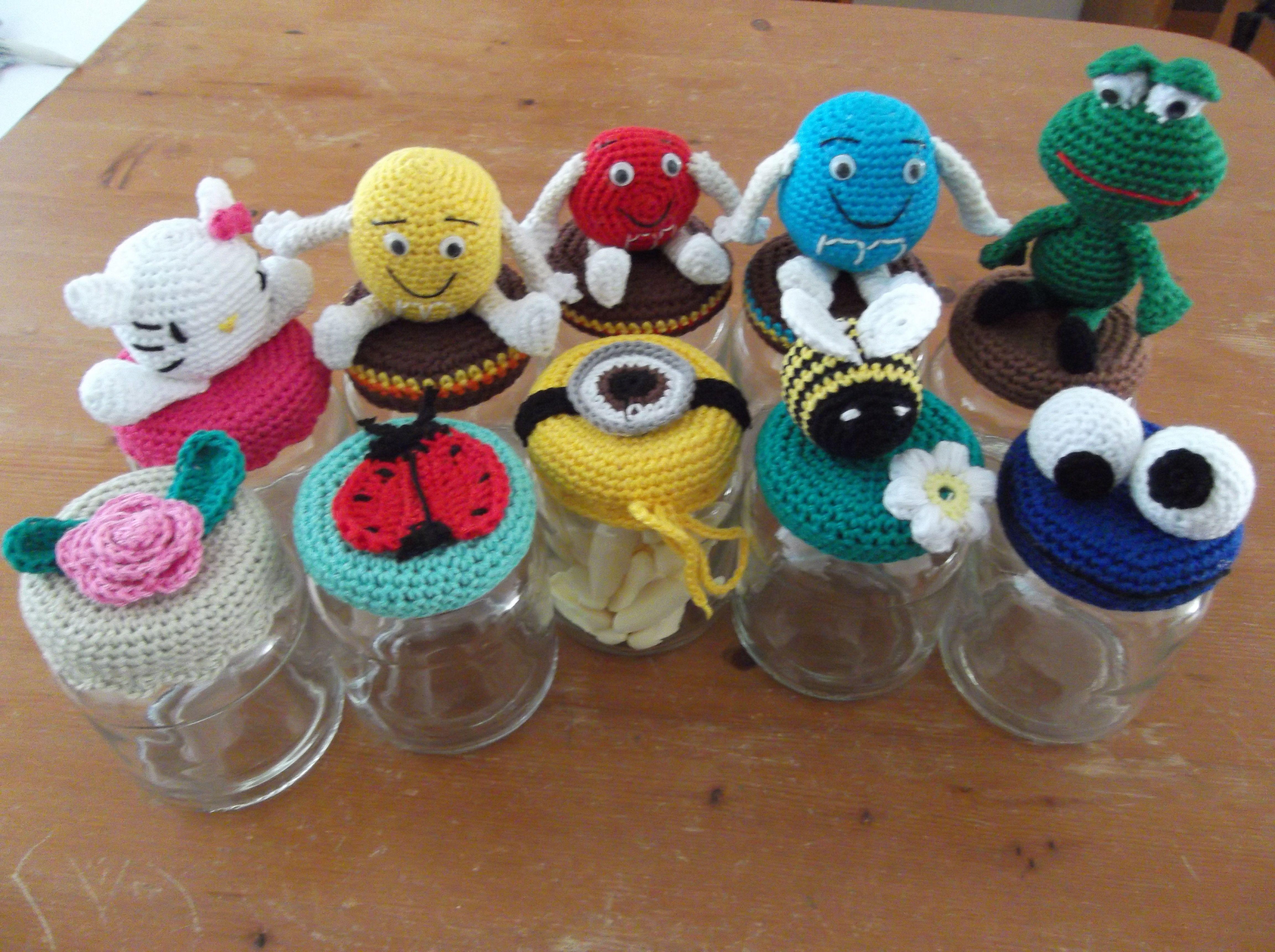Snoeppotjes Gehaakt Deksel Haken Crochet Pinterest Crochet