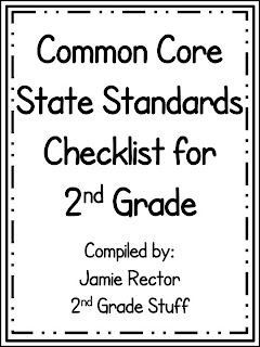 2nd Grade Stuff: Common Core Checklist for 2nd Grade