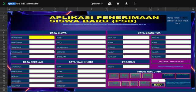 Xls Otomatis Software Kartu Ujian Aplikasi Excel Free Download Pendidikan Kepala Sekolah Kurikulum
