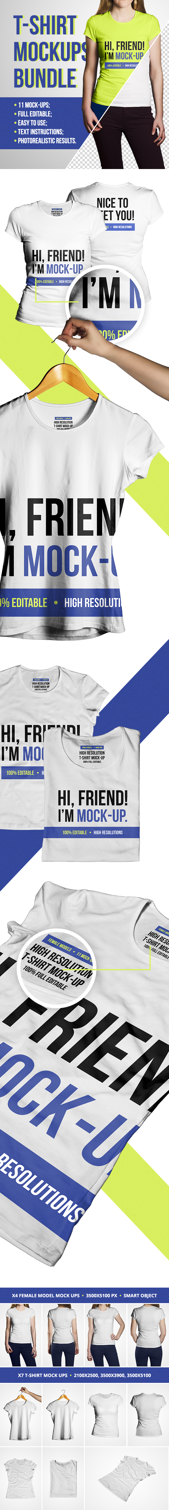 Download A Total Of 11 High Resolution Psd Mockup Files For A Professional Presentation These Mock Ups Help You Sell Your Shirt Mockup T Shirts For Women Tshirt Mockup