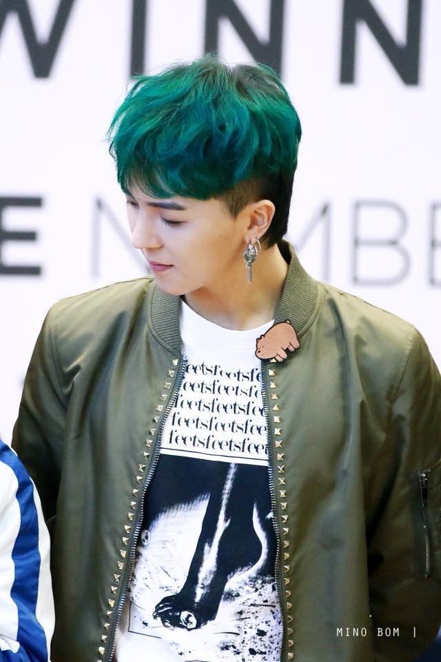 Mino Green Hair Is The Best Green Hair Cool Hairstyles Mino Winner