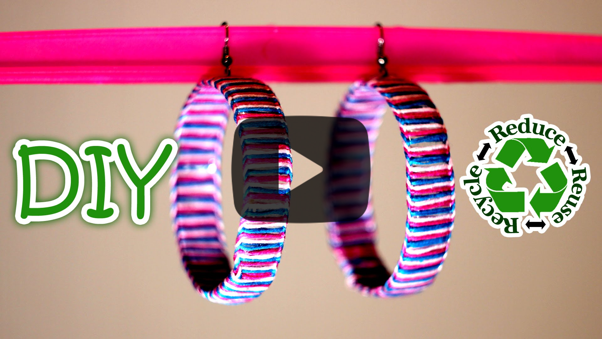 DIY Earrings Out Of A Recycled Plastic Bottle. Click here to find out how to make this