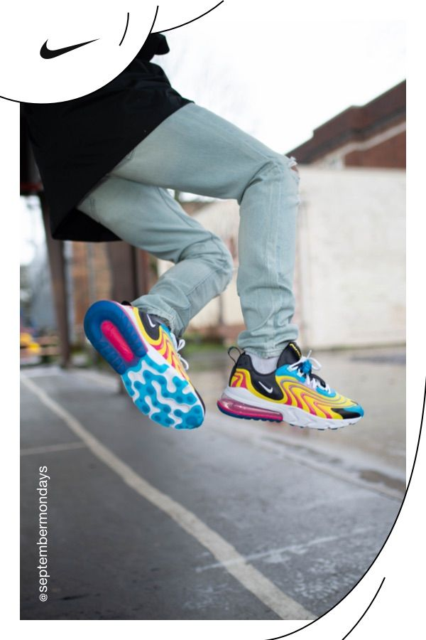 Air Max 270 React Eng Men S Shoe In 2020 Jeans And Sneakers Custom Nike Shoes Sneakers Men Fashion