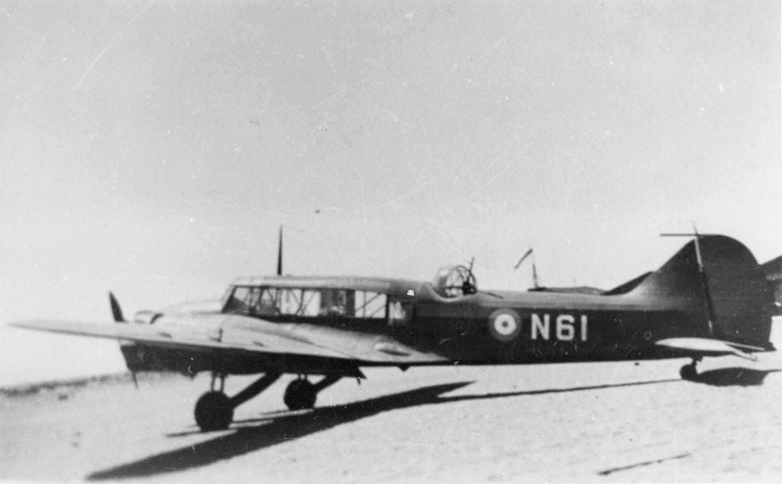RHAF Avro Anson I, N61 in Egypt Hellenic air force