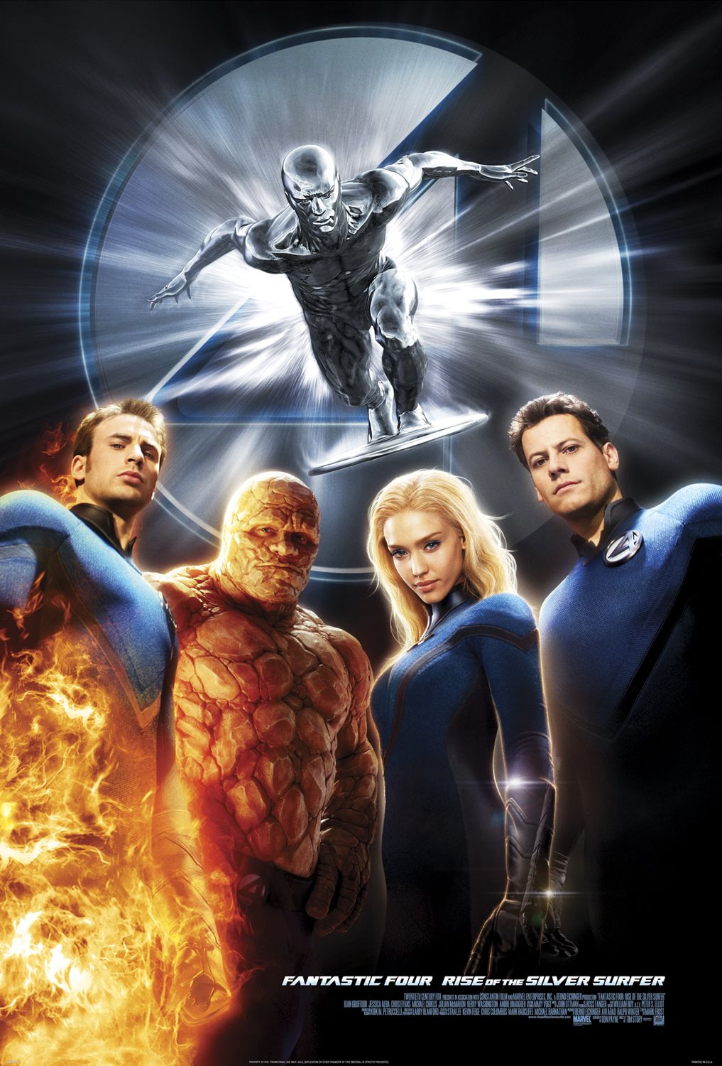 Fantastic Four Rise Of The Silver Surfer 2007 Silver Surfer Movie Silver Surfer Superhero Movies