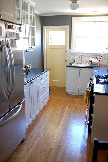 Our finished kitchen - white Ikea Lidingo cabinets, subway ...