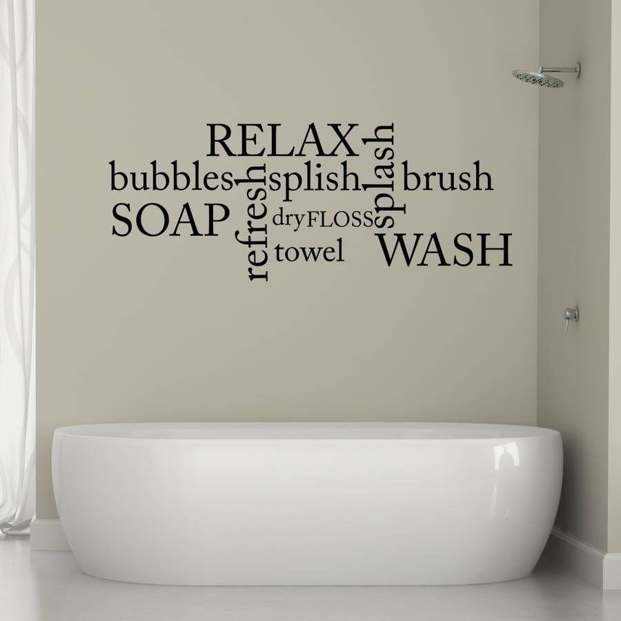 How To Make A Bathroom Beautiful On A Budget Thrifty Home Bathroom Wall Decals Bathroom Wall Stickers Bath Wall Art