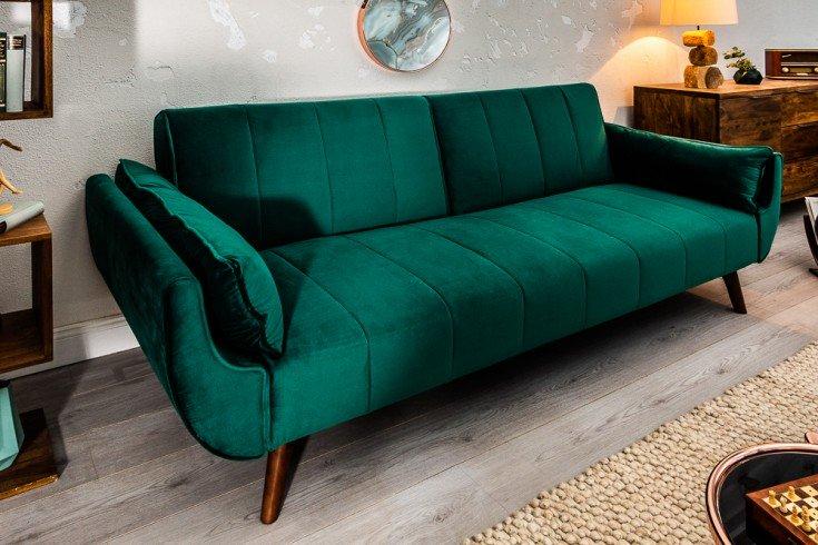 Retro Schlafsofa Divani 215cm Smaragdgrun Samt Bettfunktion Riess Ambiente De Arredamento Mediterraneo Mobili Giroletto
