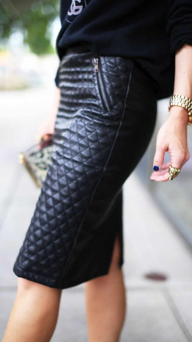 Foto: Pinterest | Outfit's de Mujer | Pinterest | Fashion, Blog ... : quilted leather skirt - Adamdwight.com