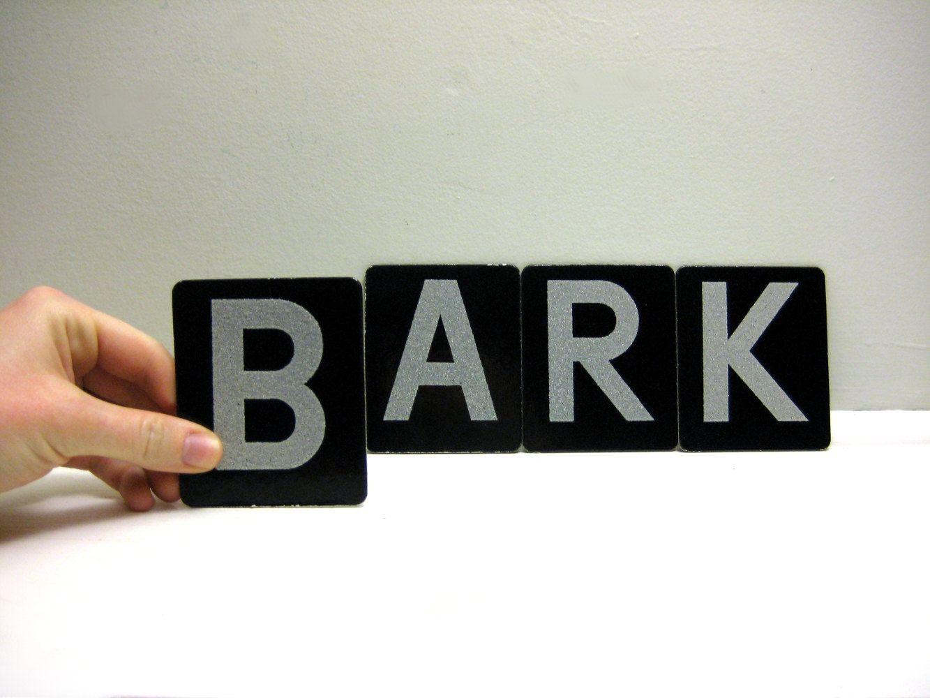 Bark Sign Vintage Dog Lovers Alphabet Letters by saltandginger