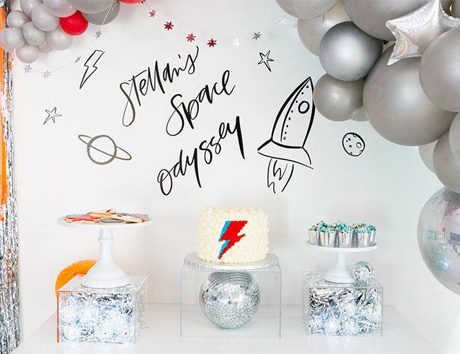 Details about  /Universe Outer Space Astronaut Balloon Kids Birthday Party Decor Happy Birthday