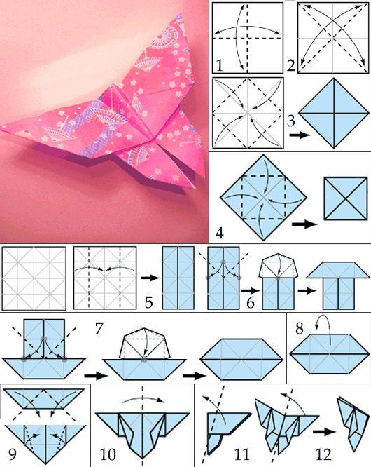 origami schmetterling my blog. Black Bedroom Furniture Sets. Home Design Ideas