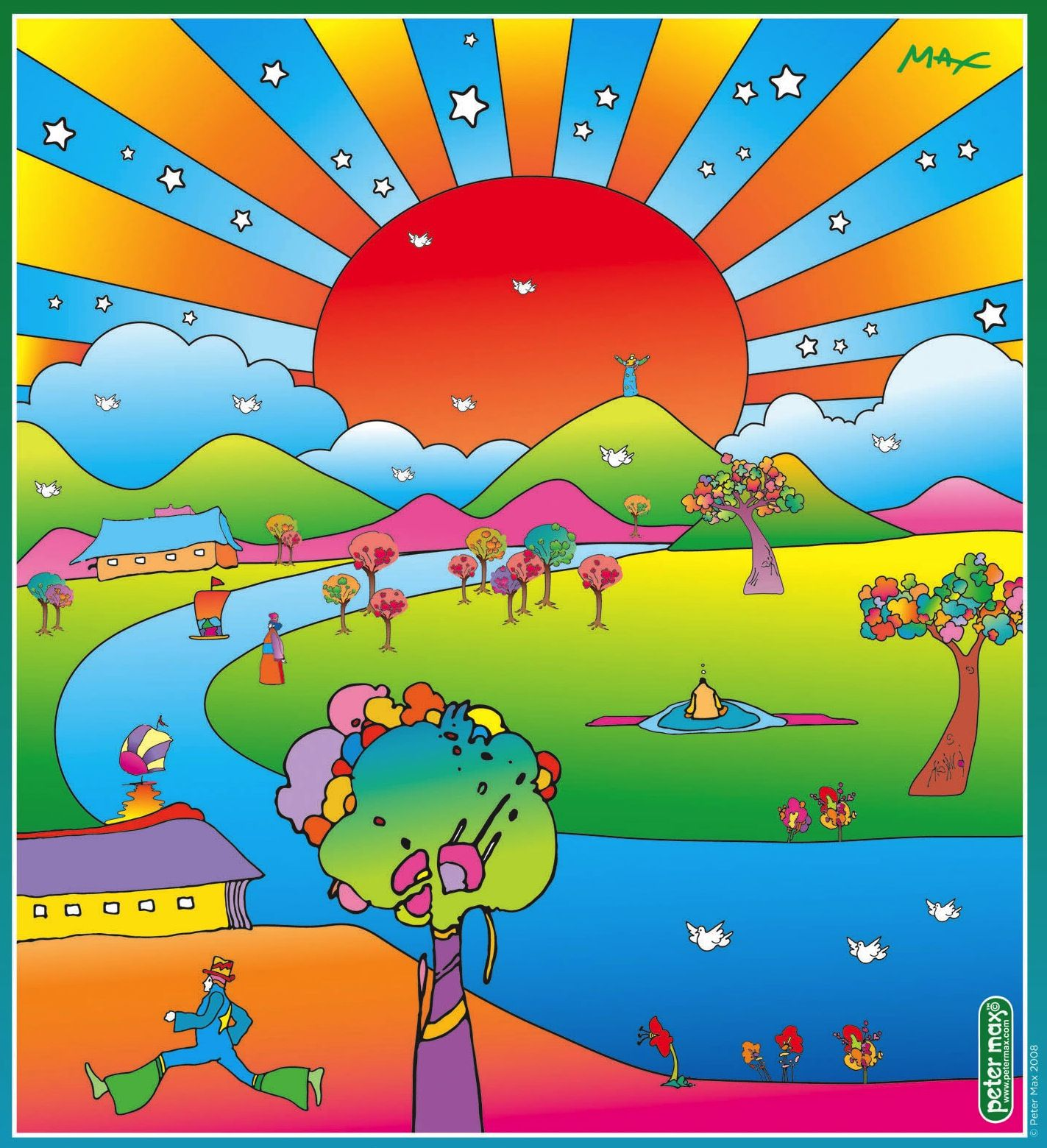 Peter Max | Peter max art, Peter max, Psychedelic poster