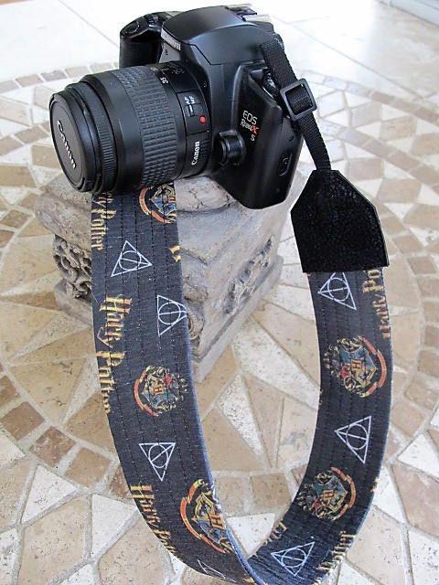 Harry Potter Adjustable Handmade Fabric Camera Strap DSLR Strap