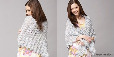Chevron Lace Shawl or Scarf free knitting pattern from Patons