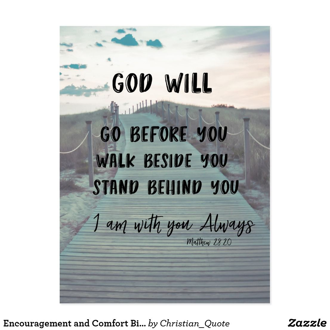 Quote Scripture Bible Verses: Encouragement And Comfort Bible Verse With Quote Postcard
