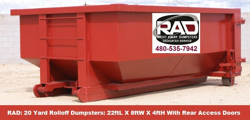 Rolloff Dumpsters With 10 More Capacity In Gilbert Dumpster Rental Roll Off Dumpster Dumpster