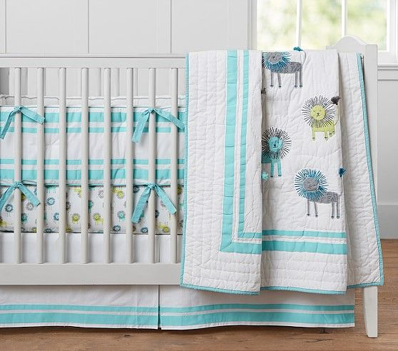 Harper Lion Nursery Bedding | Pottery Barn Kids- I WANT this!!! So ... : pottery barn baby quilt - Adamdwight.com