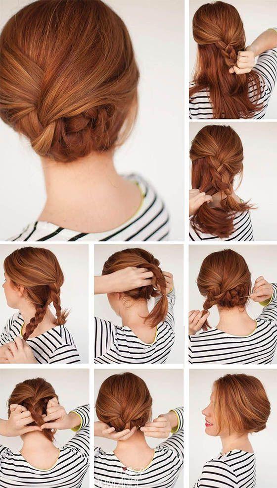 Peinados De Fiestas Rapidos Sencillos Elegantes Tendencia Peinados Faciles Para Fiesta Peinados Poco Cabello Peinados Con Pelo Recogido