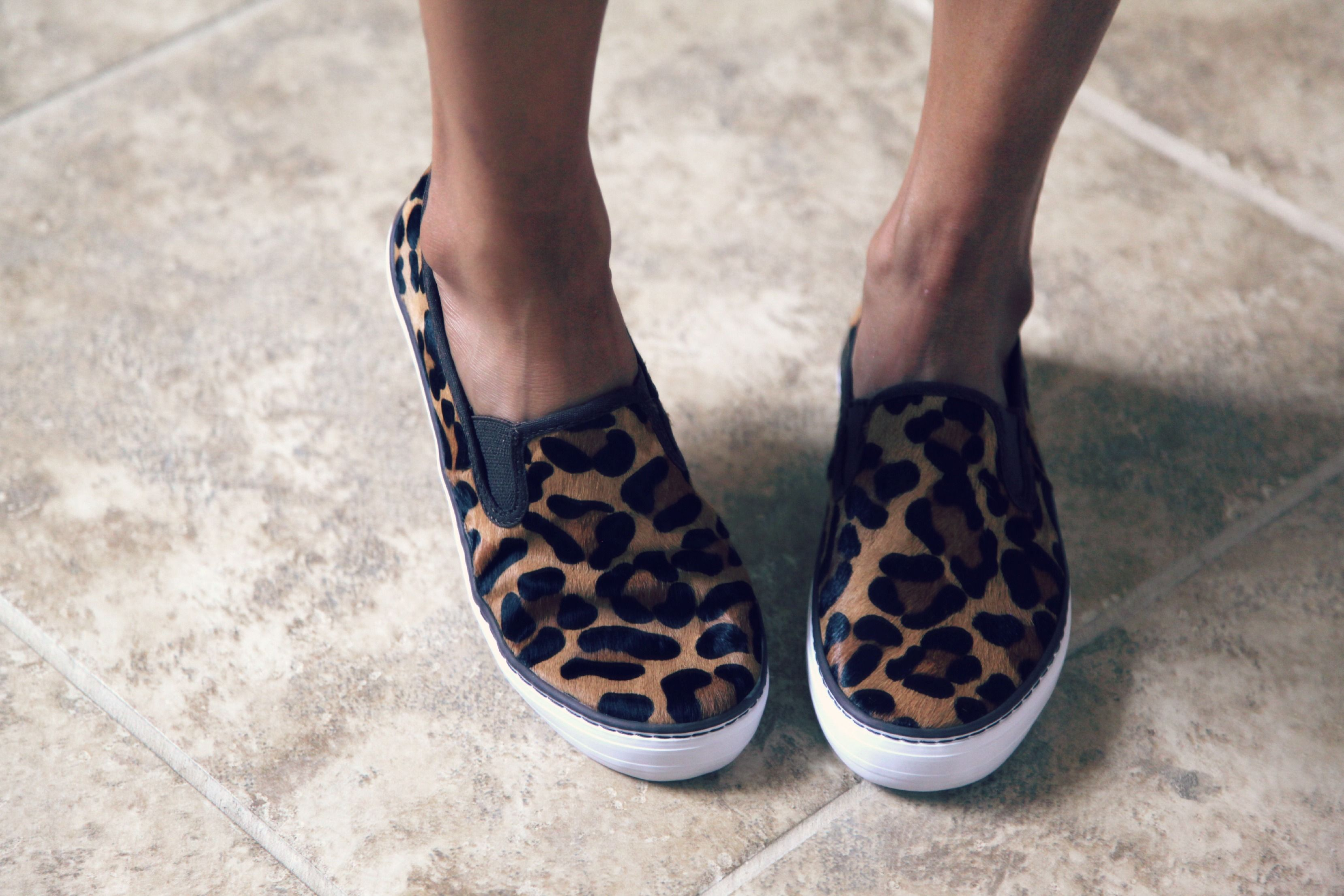 ef5bdf01 Leopard print calf hair slip on sneakers from The Gap   accessories ...