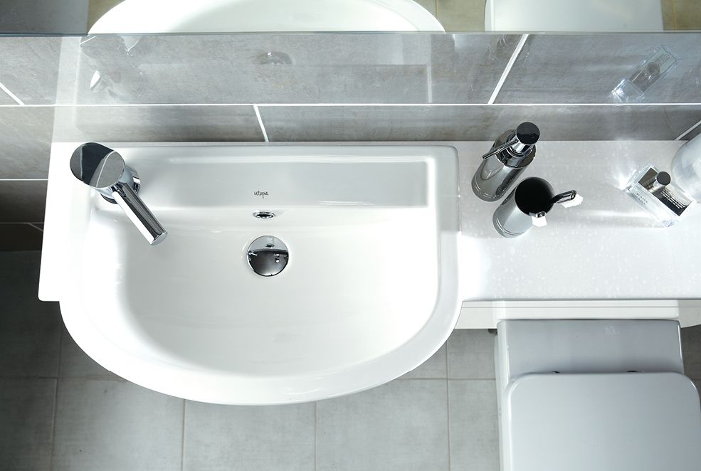 Fitted Bathrooms In Bolton: Quantum Round Short Projection Semi-recessed Basin