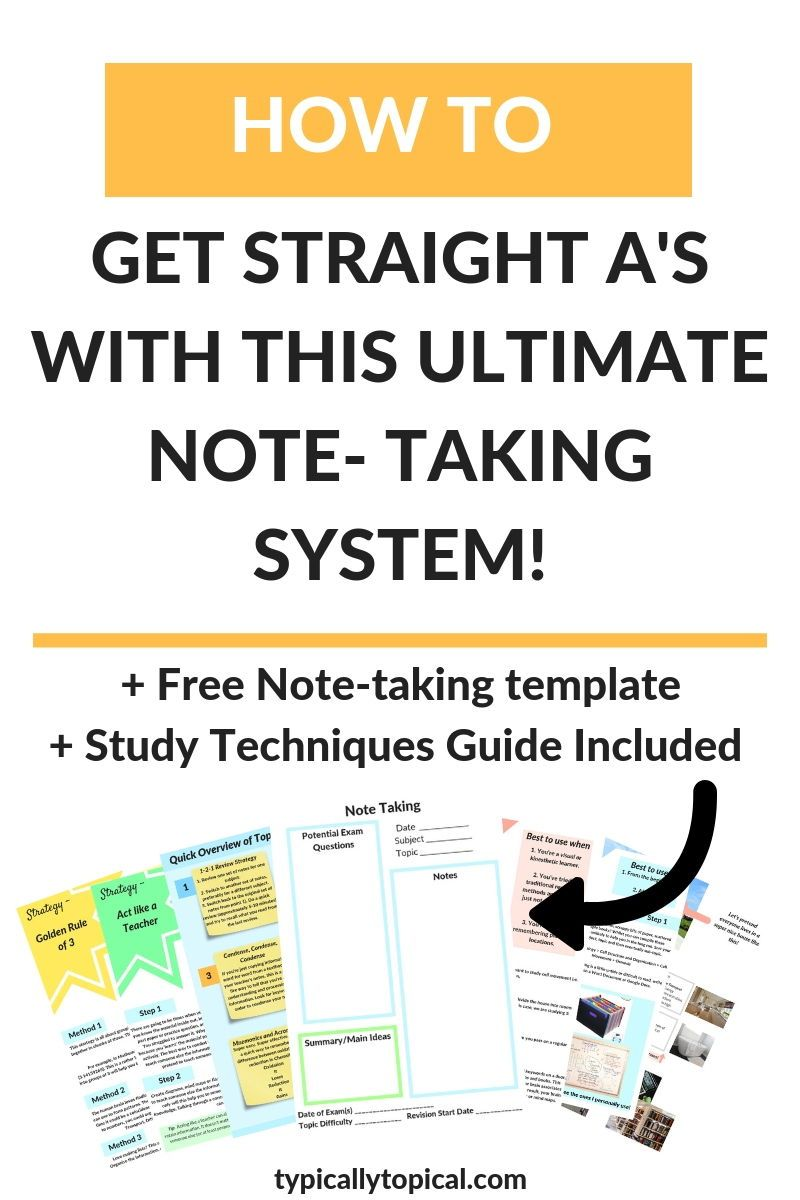 Straight A Student's Ultimate Note Taking Methods