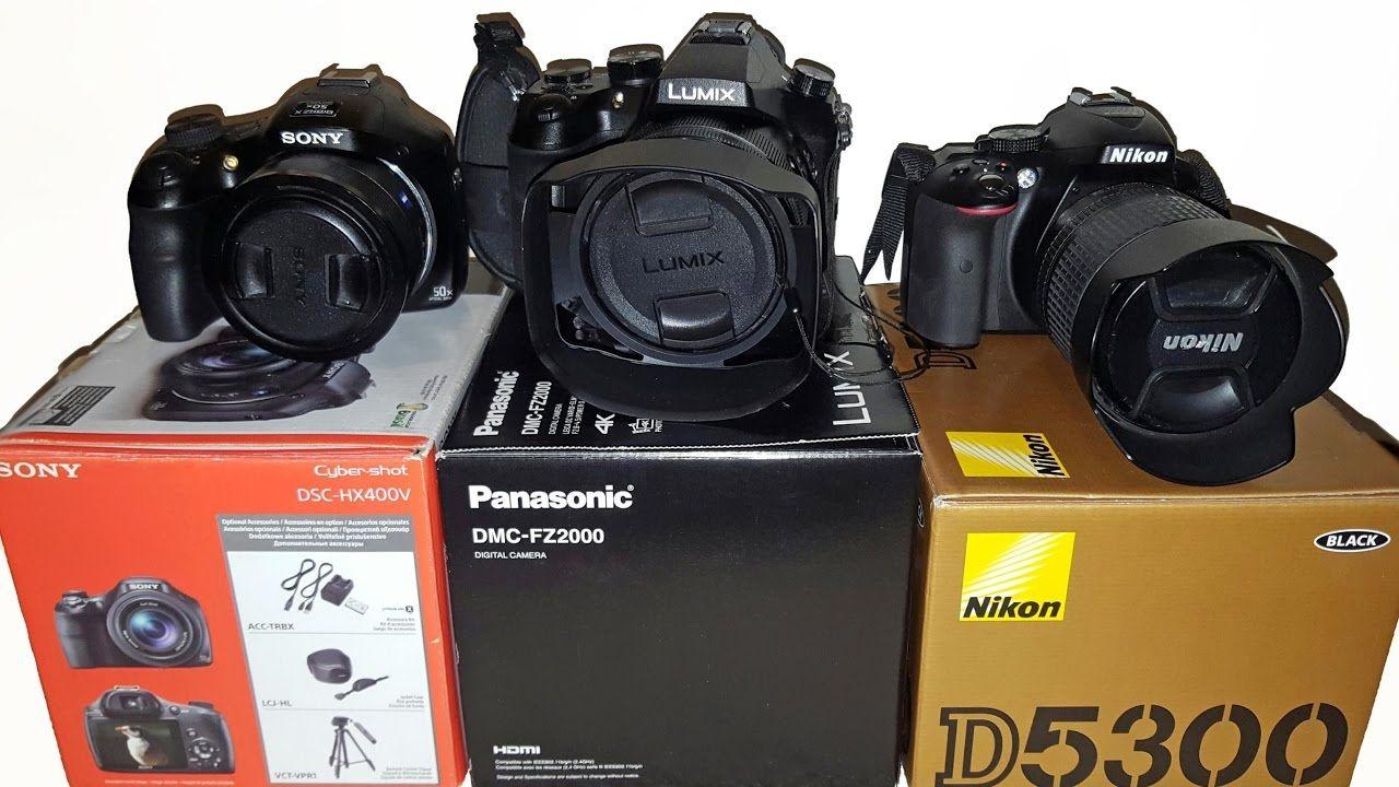 Compare Digital Cameras Guide Lumix FZ2000 vs Nikon D5300