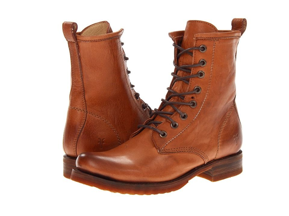 Frye Veronica Combat Women's Lace up Boots Whiskey Soft