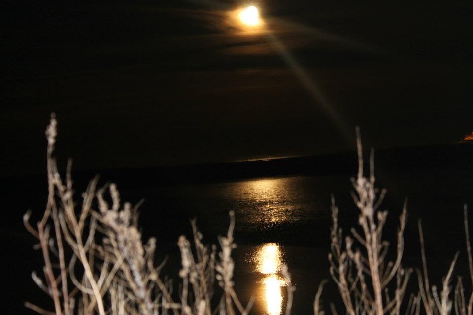 moon over the Atlantic ocean