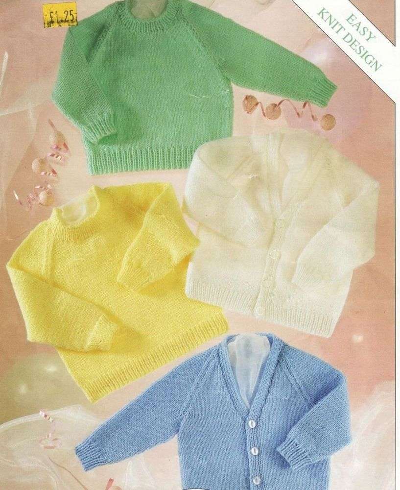 PDF Digital Knitting Pattern 3 Baby Sweaters Cardigan Premature ...