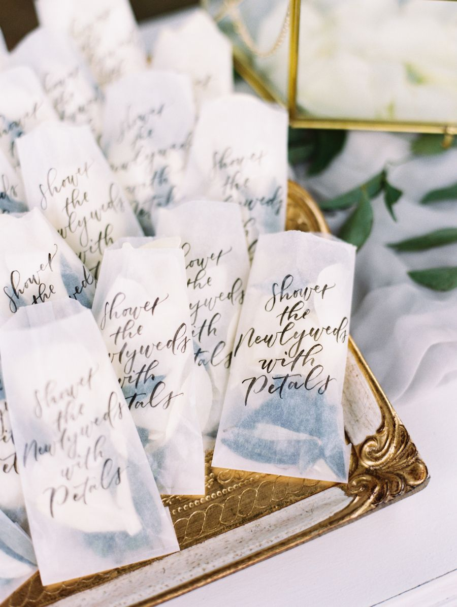 Calligraphed Table Runners Made for an Utterly Romantic Wedding ...