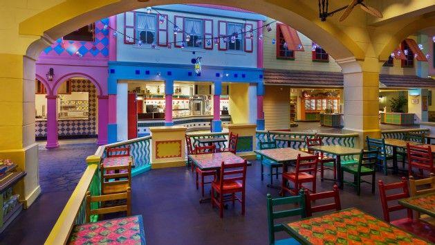Walt Disney World Resorts Old Port Royale Food Court At Caribbean Beach Resort