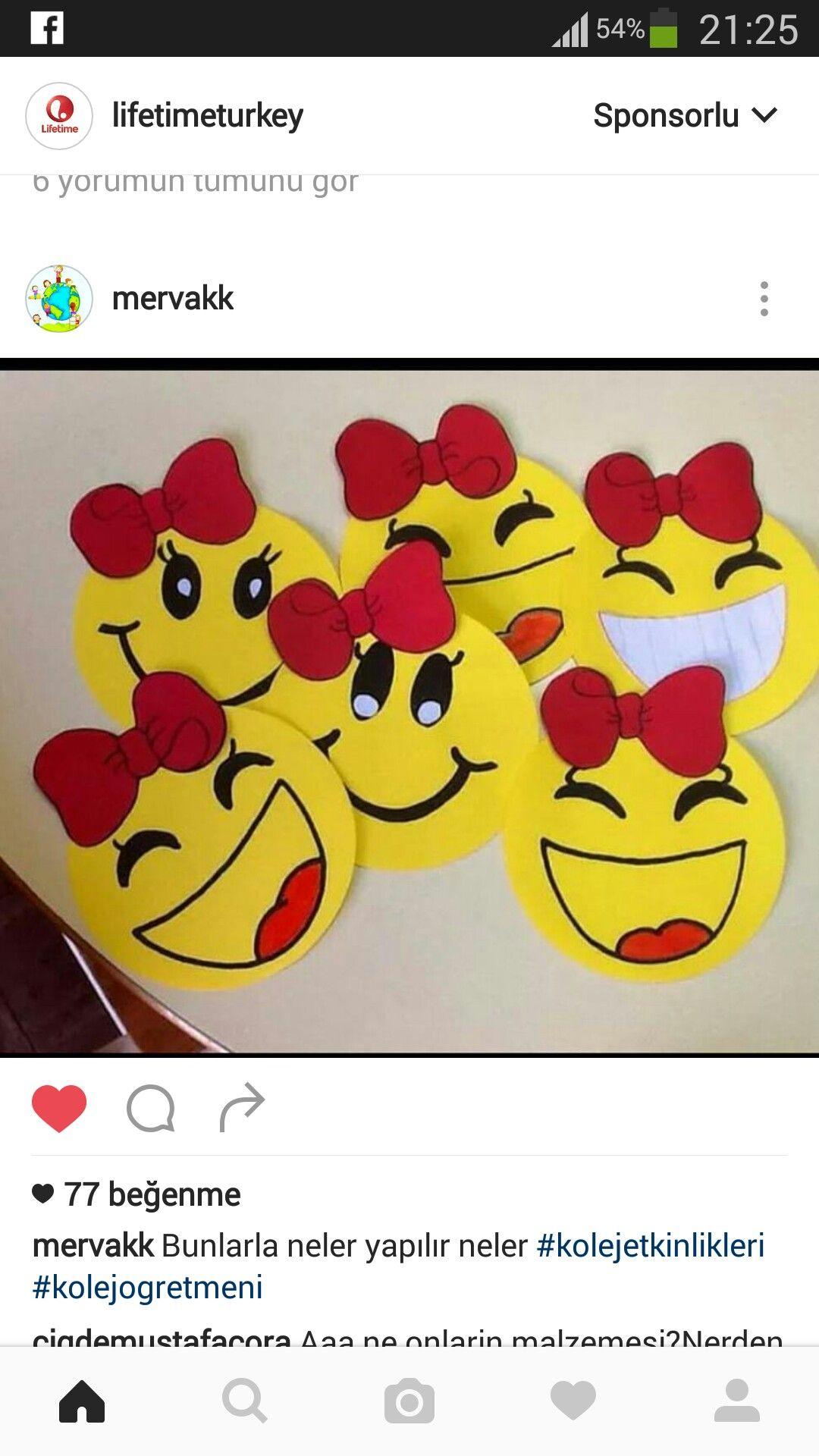 Gülen Yüzler üç Boyutlu Boyama Kesme Kağıt Işleri Classroom