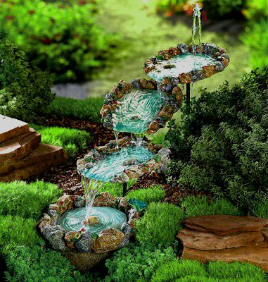 Amazon Com Miniature Fairy Garden Water Fountain Shale With Pump Miniature Fairy Gardens Miniature Garden Fairy Garden
