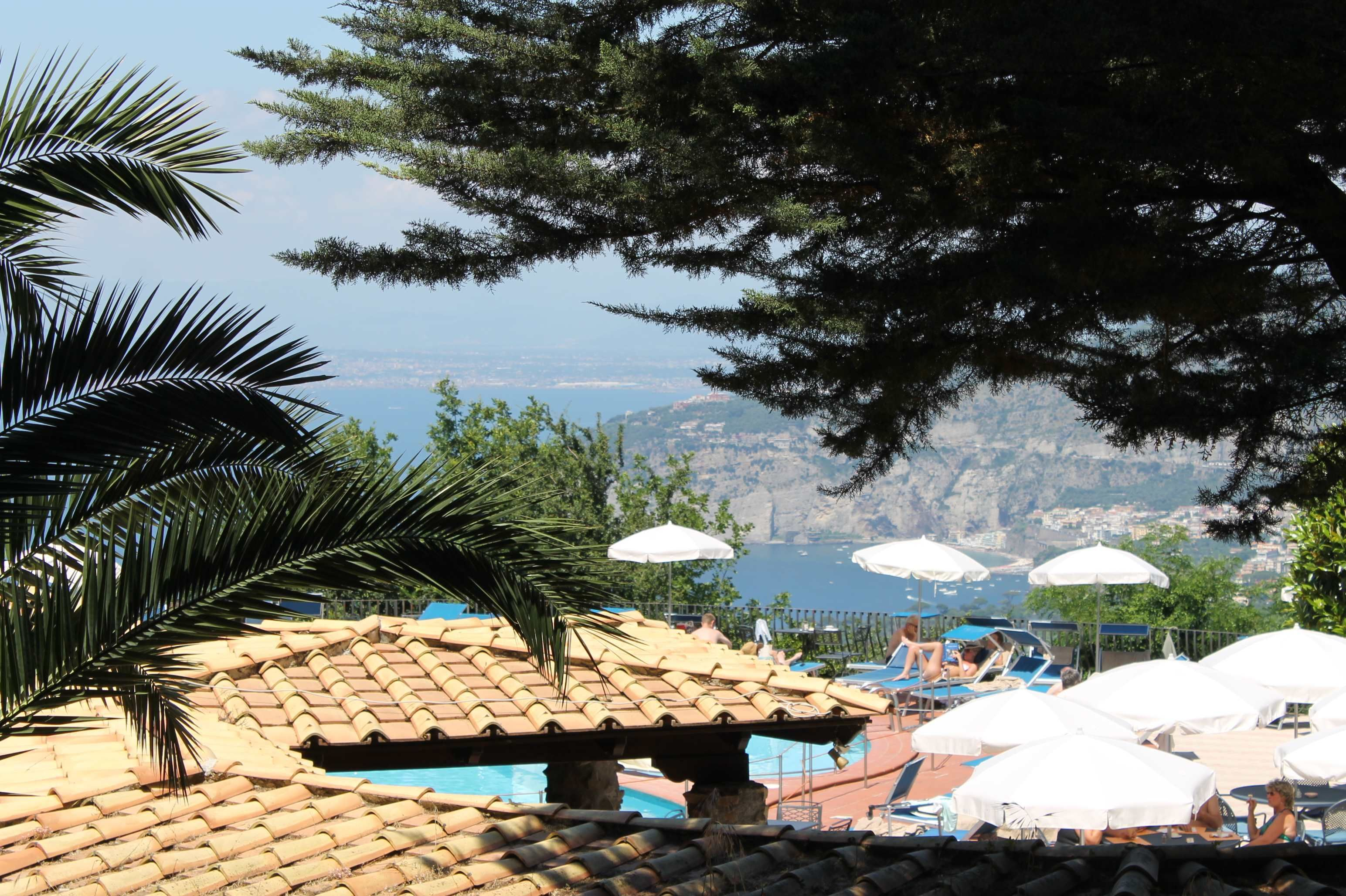 Up, Up, Up in the Mountains of the Amalfi Coast ( Pool View from the hotel) | TigSee