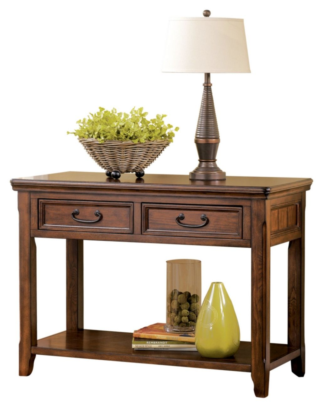 Signature Design Woodboro Sofa Table Ashley Furniture T478 4 Diy Sofa Table Sofa Tables Console Table