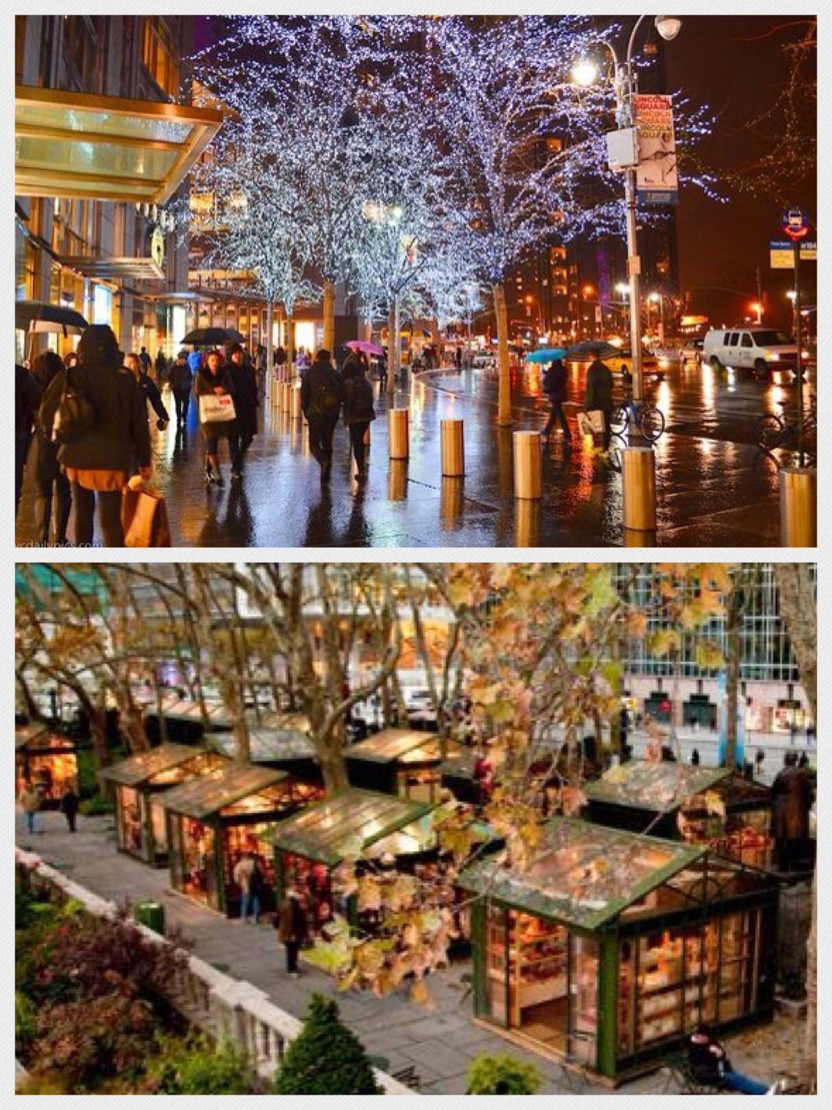 Bryant Park Christmas Market.Christmas In Nyc Top Time Warner Center Columbus Circle