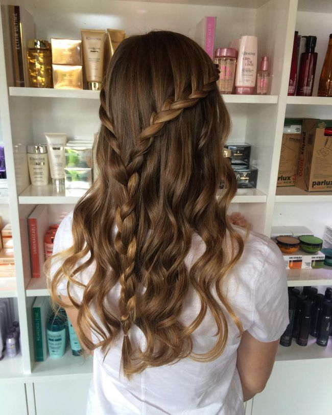 Twisted+Half+Up+for+Beach+Waves   Hair styles, Down ...